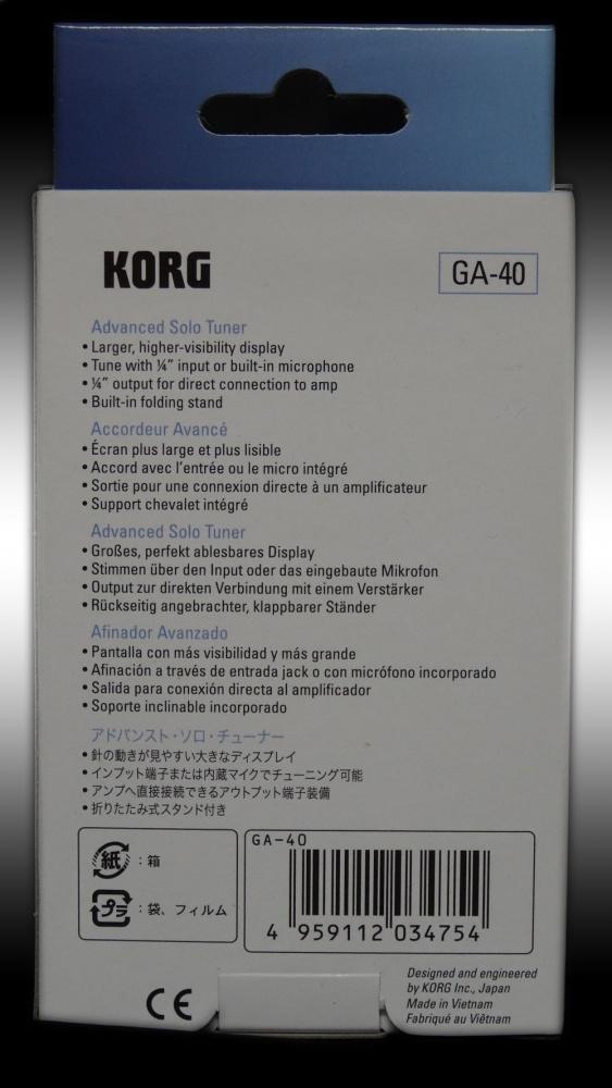 KORG GA-40 Advanced Solo Tuner Gitarre und Bass Stimmgerät